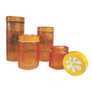4pc Glass Canister Set @ Mayfair Home