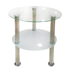 2 Layer Glass Top Round Coffee Table @ Mayfair Home