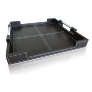 Leather Rectangle Tray @ Mayfair Home
